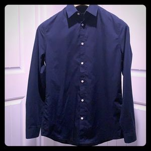 Men's H&M Navy Blue long sleeve dress shirt